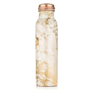 Kanakam Marble – Pure Copper Water Bottle