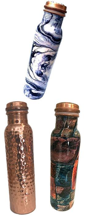 Copper Water Bottle Selection - Meena design