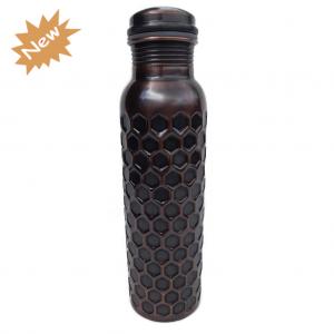 Rustic diamond copper water bottle